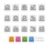 Web Site and Internet -- Outline Button — Stok Vektör