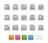 Book Icons -- Outline Buttons — Stock Vector