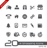 E-Shopping Icons -- Basics — Stock Vector