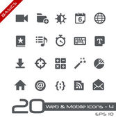 Web & Mobile Icons-4 -- Basics — Stock Vector