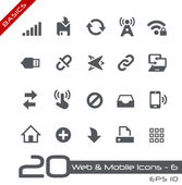 Web & Mobile Icons-6 -- Basics — Stock Vector