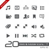 Web & Mobile Icons-7 -- Basics — Stock Vector