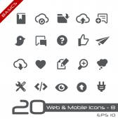 Web & Mobile Icons-8 -- Basics — Stock Vector