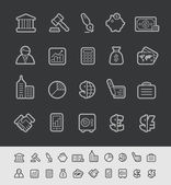 Business and Finance Icons -- Black Line Series — Stock Vector