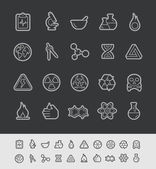 Science Icons -- Black Line Series — Stock Vector