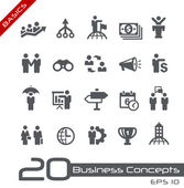 Business Concepts Icon Set -- Basics — Stock Vector