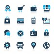 Online Store Icons -- Azure Series — Stock Vector #71219567
