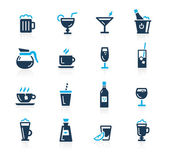 Drinks Icons -- Azure Series — Stock Vector