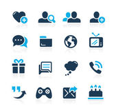 Social Communications Icons -- Azure Series — Stock Vector