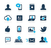 Social Icons -- Azure Series — Stock Vector