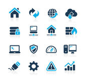 Web Developer Icons -- Azure Series — Stock Vector