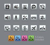 Phone Calls Interface Icons -- Satinbox Series — Stock Vector
