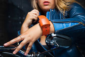 Bracelet on the wrist — Stock Photo