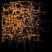 Abstrakt stora drag trä brun och gul — Stockvektor