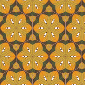 Astratto, composto da mattoni neri gialli — Vettoriale Stock