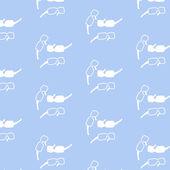 无缝模式在轮廓上的白色阳光护目镜 — 图库矢量图片