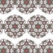 Vintage color ethnic ornament  pattern flower — Stock Vector