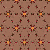 Joyful Sunny spring bright cheerful pattern  — Stock Vector