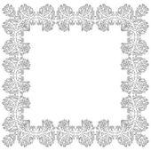 Ornamental Frame for photo black white elements — Stock Vector