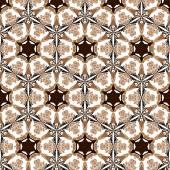 原始的なシンプルなレトロなシームレス パターン モザイク — ストックベクタ