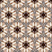 Primitiva enkel retro seamless mönster mosaik — Stockvektor