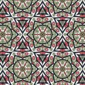 无缝的花卉民族装饰花边图案 — 图库矢量图片