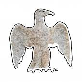 Abstrakte Silhouette der große Adler Mosaik braun — Stockvektor