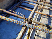Binding rebar before concreting — Stock Photo