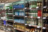 OSLO GARDERMOEN, NORWAY - NOVEMBER 3:Alcohols in Duty Free Shop at Oslo Gardermoen International Airport on november 3, 2014 in Oslo — Stock Photo