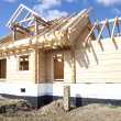 Fragment structure wooden log home — Stock Photo #71215535