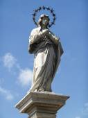Statue Of Our Lady Of The Immaculate Conception In The Middle Of — Stock Photo