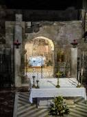 NAZARETH, ISRAEL July 8, 2015; inside the Basilica of the Annunc — Stock Photo