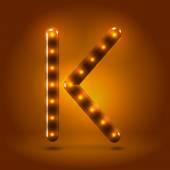 Capital letter K letter — Stok Vektör