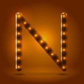 Capital letter N letter — Stock Vector