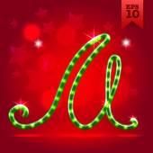 Decorative letter M — Stock Vector