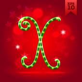 Decorative letter X — Stock Vector