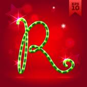 Decorative letter R — Stock Vector