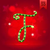 Decorative letter F — Stock Vector