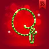 Decorative letter Q — Vecteur