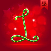 Decorative letter L — Stock Vector