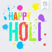 Happy Holi splash colors — Stock Vector