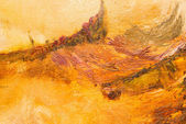 Abstract background. Oil painting - autumn color — Stock Photo
