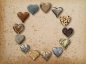 Heart shaped things arranged in circle — Stock Photo