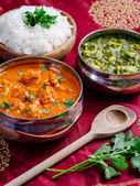 Murgh Makhani and Saag Paneer — Stock Photo