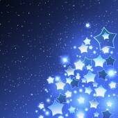Vector Christmas Background with Stylized Star — Vecteur
