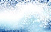 New year 2015 in blue background. Vector. Clip-art — Stock Vector