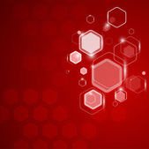 Abstract background hexagon. Vector illustration — Stock Vector