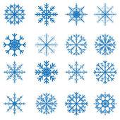 Снежинки Векторный набор для Рождественский дизайн — Cтоковый вектор