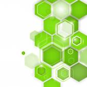 Abstract green background hexagon. Vector illustration — Stock Vector