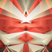 Abstract geometrical red background. Vector Illustration — ストックベクタ
